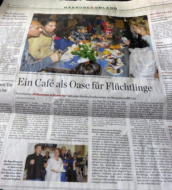 Artikel im Hamburger Abendblatt von Lutz Kastendiek am 20. Januar 2016
