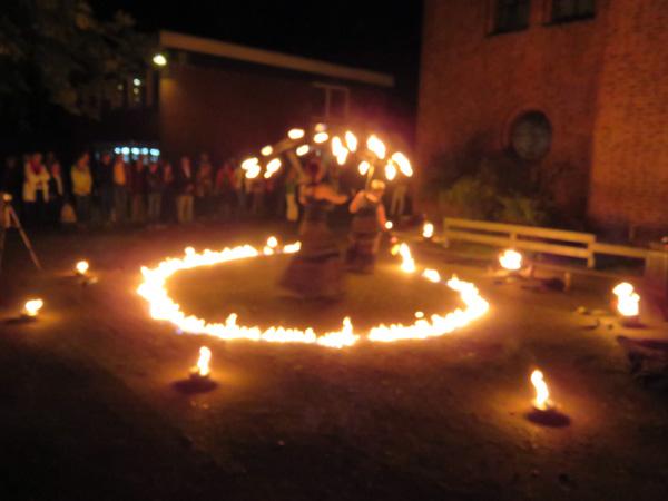 Die fantastische Feuershow zum Abschluss