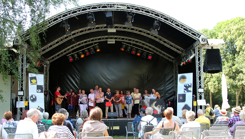 Konzert aufr der IGS in Hamburg am 31. Juli 2013